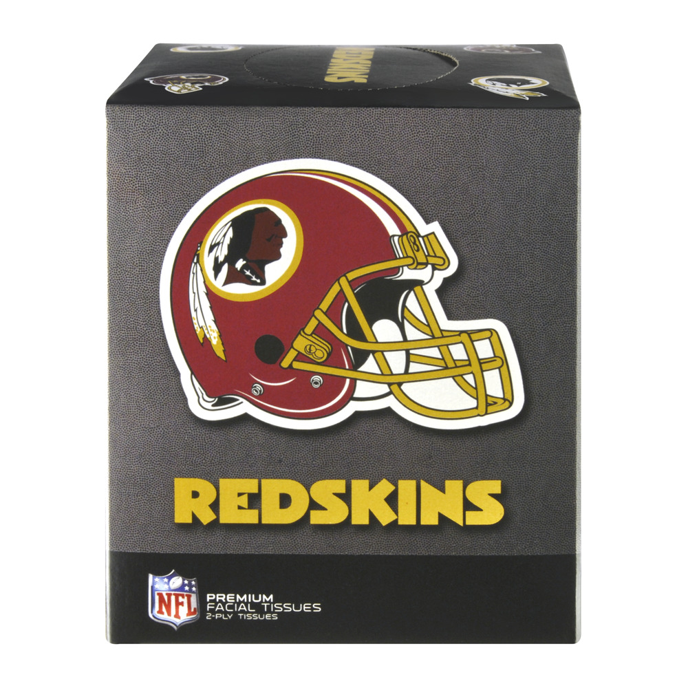 NFL Washington Redskins 2-Ply Premium Facial Tissues, 75.0 CT
