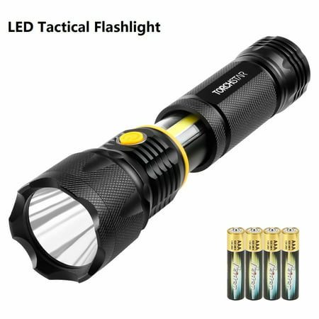 Torchstar Multi Purpose Led Flashlight Floodlight Spotlight Magnetic Base Battery Operated Work Light Cree Chips Skid Resistant Handgrip