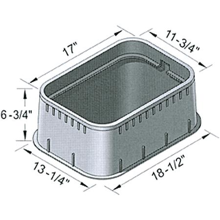 Meter Box Ext  12X17x6 75