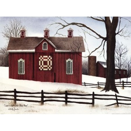 Lovers Knot Quilt Block Barn Poster Print by Billy Jacobs (24 x - Block Print