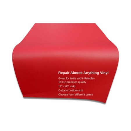 - Pogo Vinyl Strip for Inflatable Bounce House Repair Commercial Grade, Red