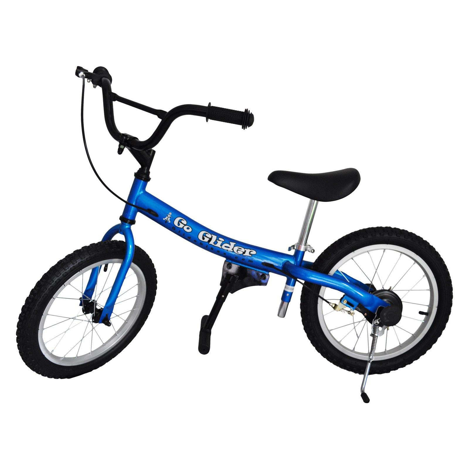 Glide Bikes 16 in. Go Glider Balance Bike - Blue