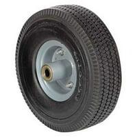 """VESTIL UFBK-10-WHL-58 Caster Wheel,5/8"""" Bearing,10"""" dia.,Black"""