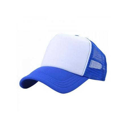1949a245 Fymall - Baby Boy Girl Plain Baseball Caps Stitching Trucker Mesh Visor  Adjustable Hats - Walmart.com