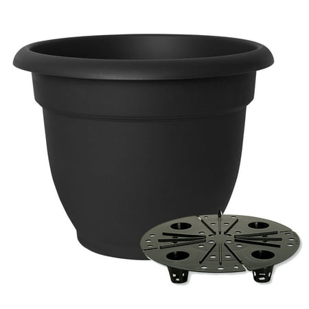 "Bloem Ariana Self Watering Planter 16"" Black"