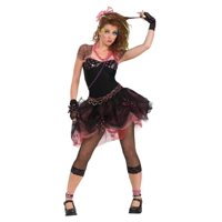 Rubie's Women's 80's Diva Costume, Black, Standard
