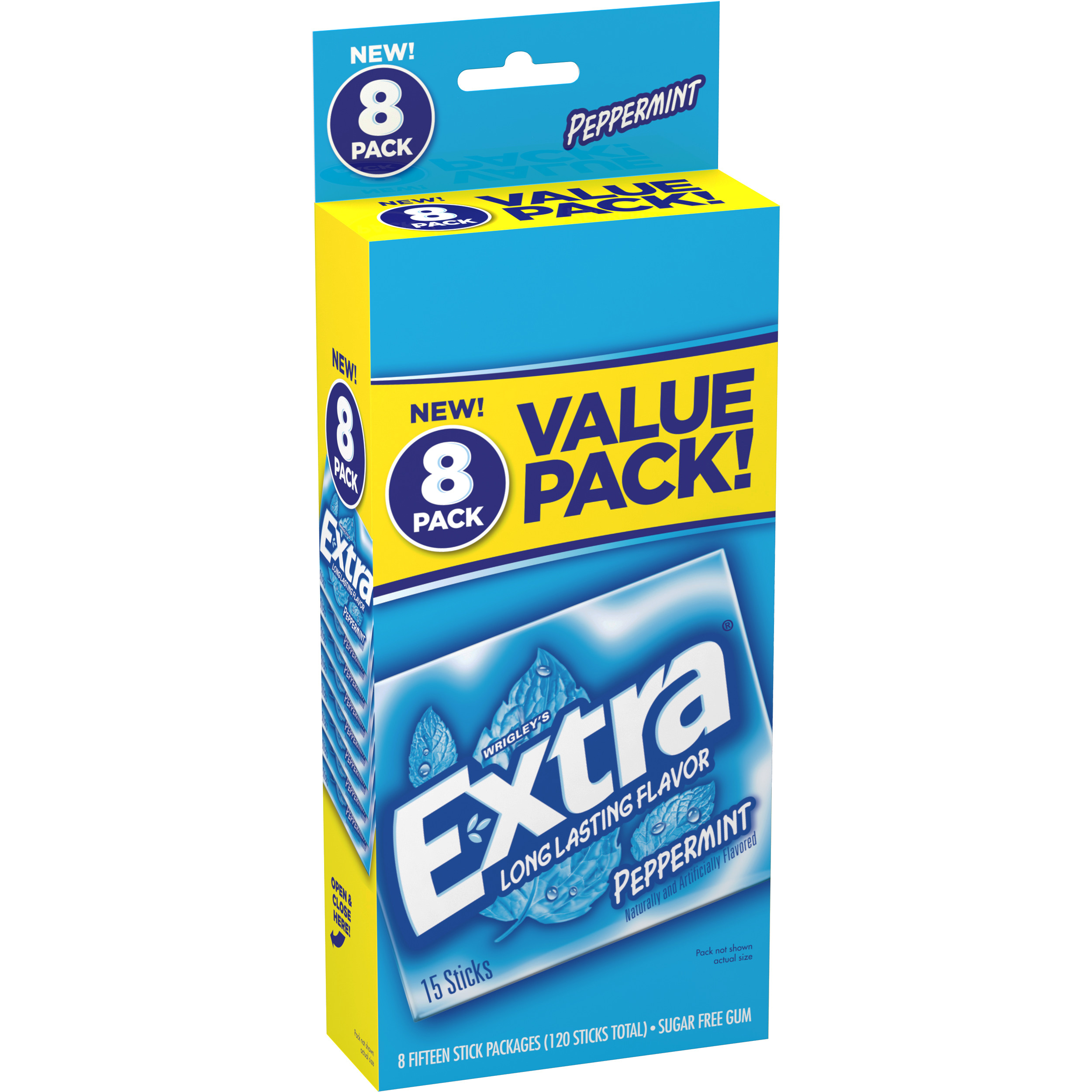 Extra Peppermint Sugarfree Gum, value pack (8 packs total)