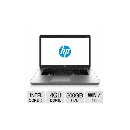 "HP EliteBook 850 G1 Notebook PC - Intel Core i5-4200U 1.60GHz, 4GB DDR3L Memory, 500GB HDD, 15.6"" Display, Windows 7/8 P"