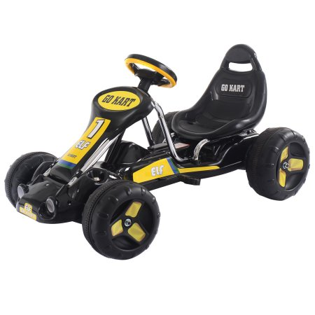 Click here to buy Go Kart Kids Ride On Car Pedal Powered Car 4 Wheel Racer Toy Stealth Outdoor by Costway.