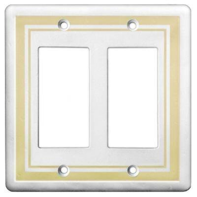 Hampton Bay Decorative 2 Gang GFCI Wall Plate - Cast Stone Style ...