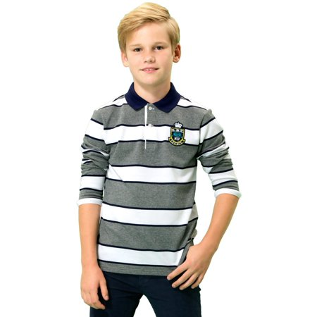 Casual Suits For Boys (leo&lily big boys' kids long sleeves pique casual polo)