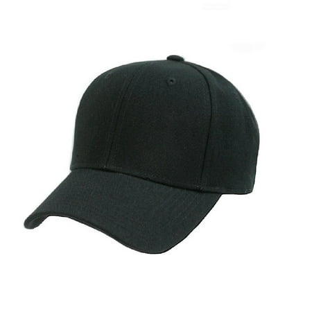 b32c89df002 Plain Baseball Cap - Blank Hat with Solid Color   Adjustable - Walmart.com