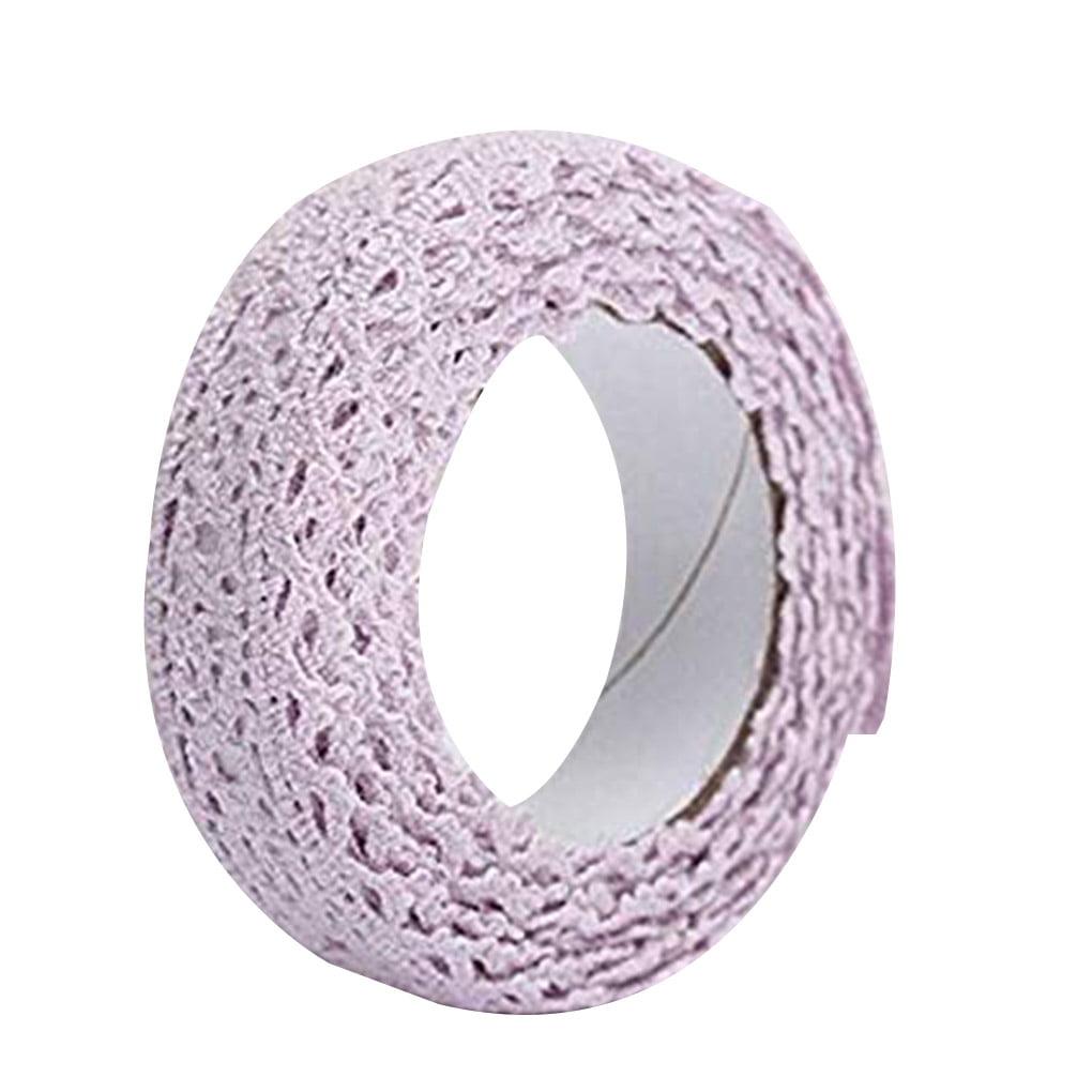 Cartoon Fabric Lace Tape Colorful Self Adhesive Border Band DIY Xmas Wedding Party Gift Ornament