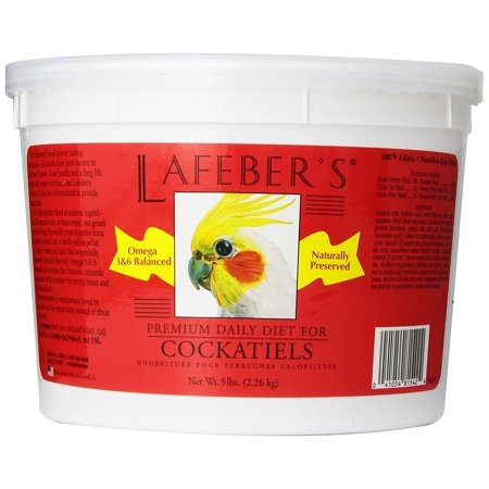 Lafebers Daily Diet - 's Premium Daily Diet Pellets for Cockatiels 5 lb Ship from US..., By Lafeber