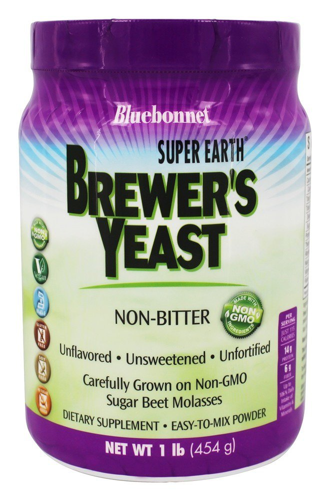 Bluebonnet Nutrition Super Earth Brewer's Yeast Powder 1 lb. by Bluebonnet