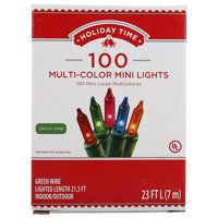 Holiday Time Mini Light set, Multicolored, 100 count