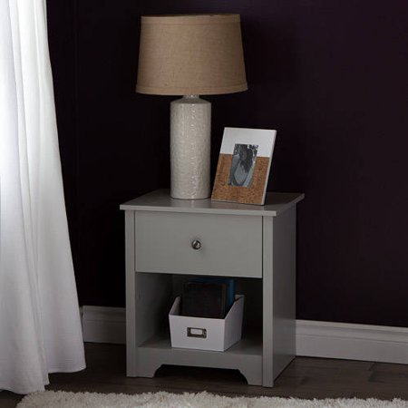 South Shore Vito 1-Drawer Nightstand, Multiple Finishes