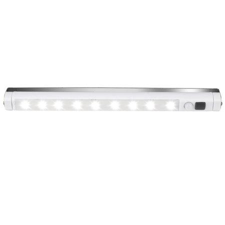 9LED PIR Motion Sensor LED Light Kitchen Cupboard Under Cabinet Shelf Counter LED Light Bar Lighting Lamp White (Under Counter Lights Kitchen)