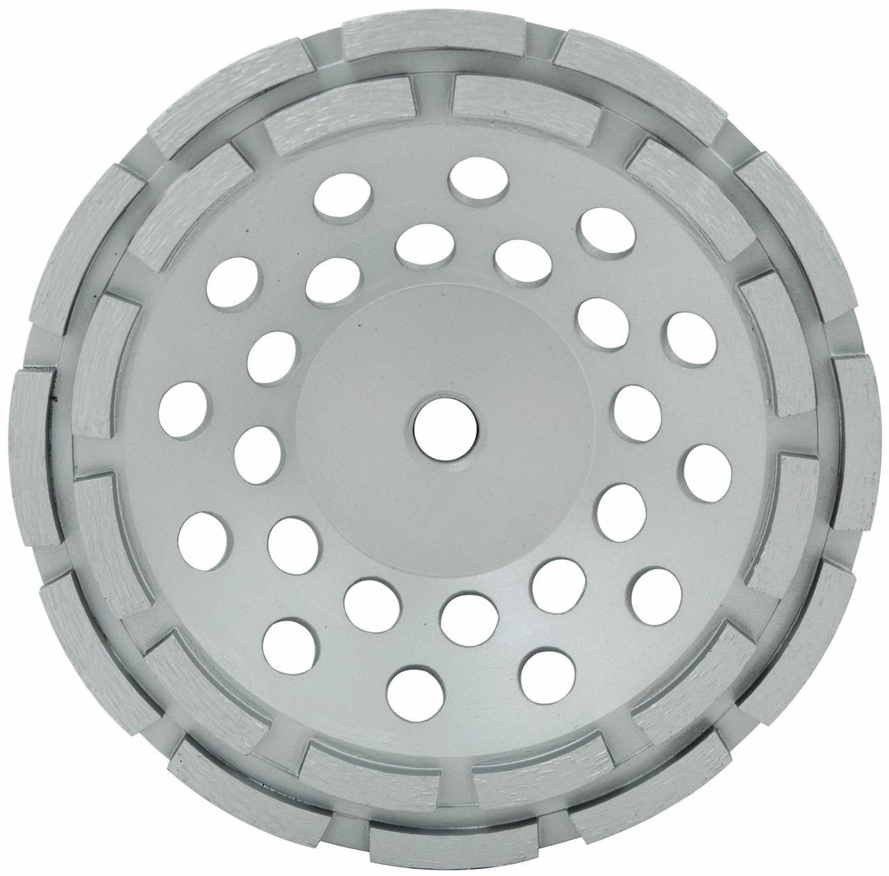 "7"" Spp Series Double Row Cup Wheel, Wet/Dry, 7/8""-5/8"""