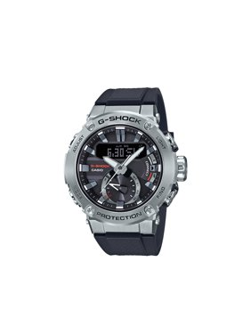 Casio Men's G-Steel by G-Shock Quartz Solar Bluetooth Connected Watch with Resin Strap, (Model GST-B200-1ACR)