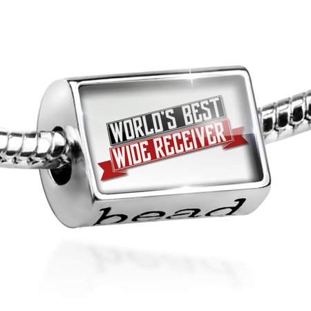 Bead Worlds Best Wide Receiver Charm Fits All European