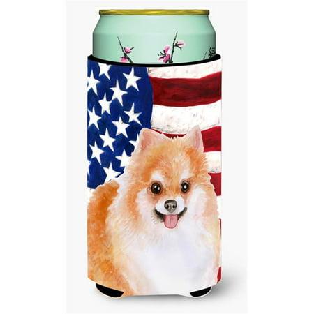 Carolines Treasures BB9716TBC Pomeranian No.2 Patriotic Tall Boy Beverage Insulator Hugger - image 1 de 1