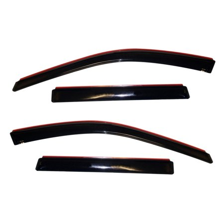 AVS 11-18 Jeep Grand Cherokee Ventvisor In-Channel Front & Rear Window Deflectors 4pc - Smoke