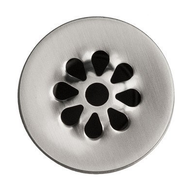 "Premier Copper Products - 1.5"" Non-Overflow Grid Bathroom Sink Drain - Brushed Nickel"