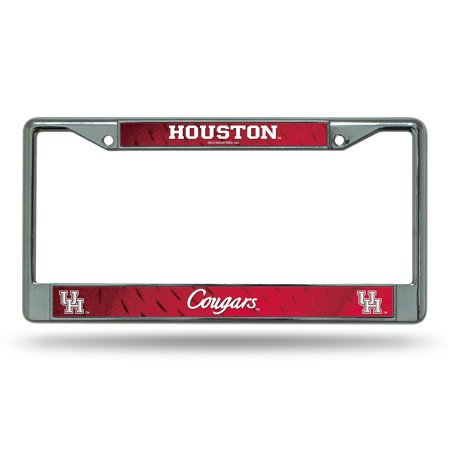 Houston Cougars NCAA Chrome Metal License Plate Frame
