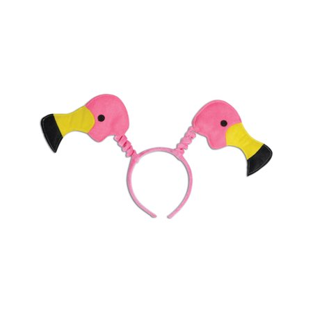Bouncy Pink Flamingo Bopper Headband Costume - Costume Flamingo