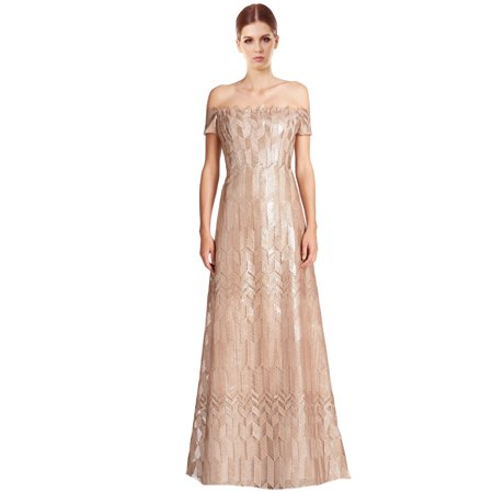 Rene Ruiz Art Deco Cap Sleeved Long Ball Evening Gown Dress