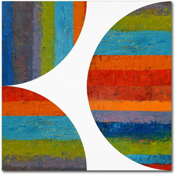 Trademark Fine Art Half Circle And Quarter Rounds 1 0 Canvas Art By Michelle Calkins Walmart Com Walmart Com