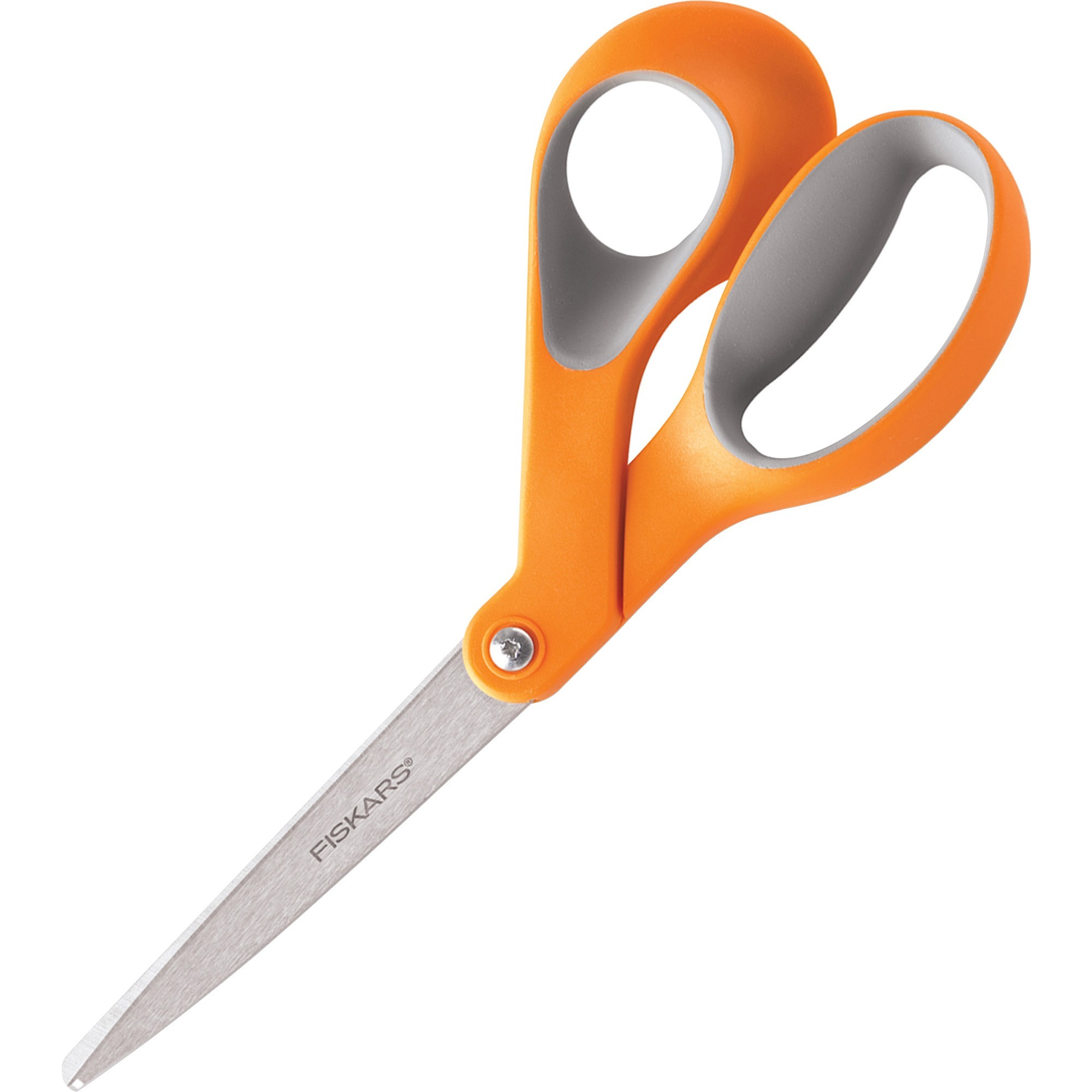 Fiskars, FSK01009881, Bent Ergonomic Scissors, 1 Each, Orange