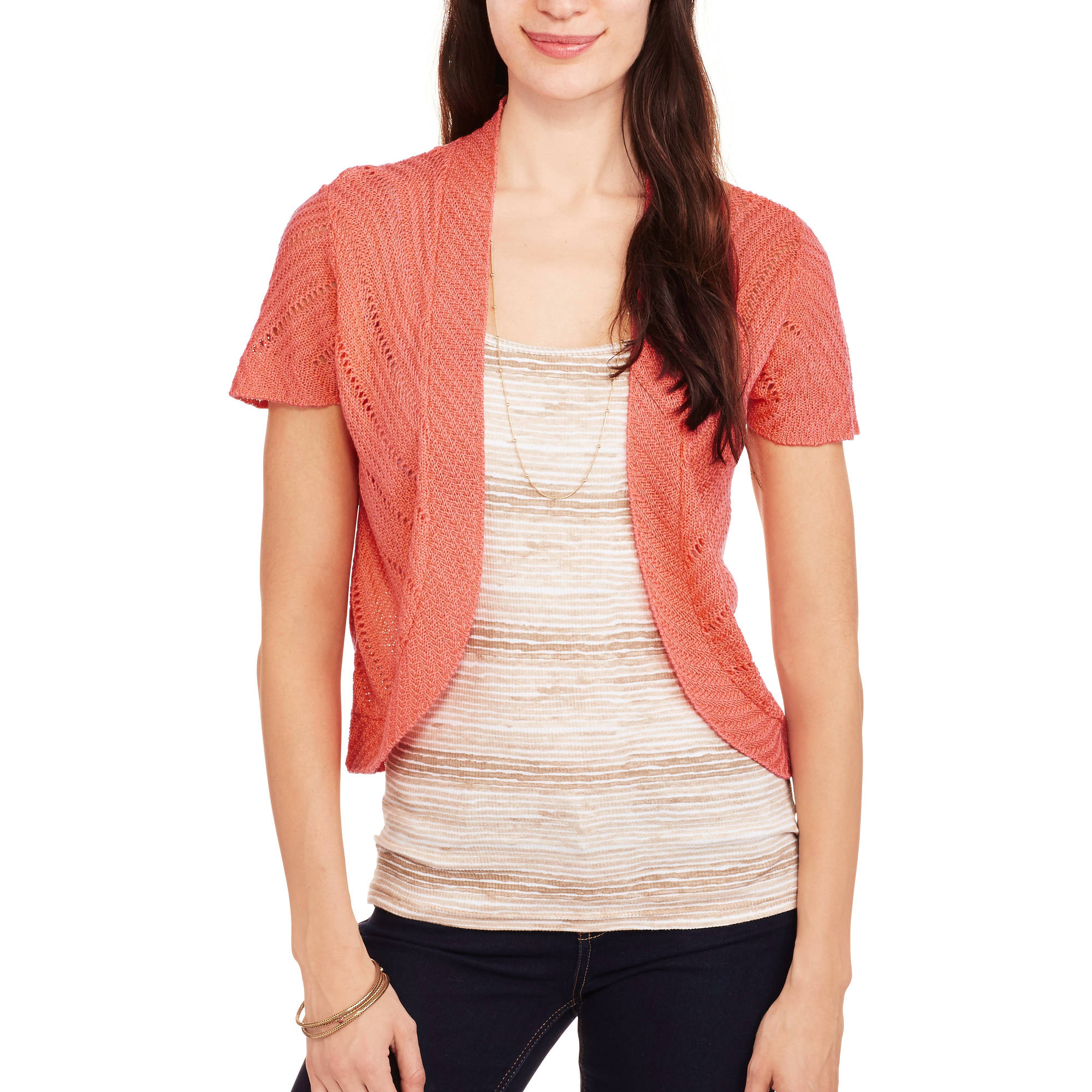 Faded Glory Women's Chevron Sweater Shrug
