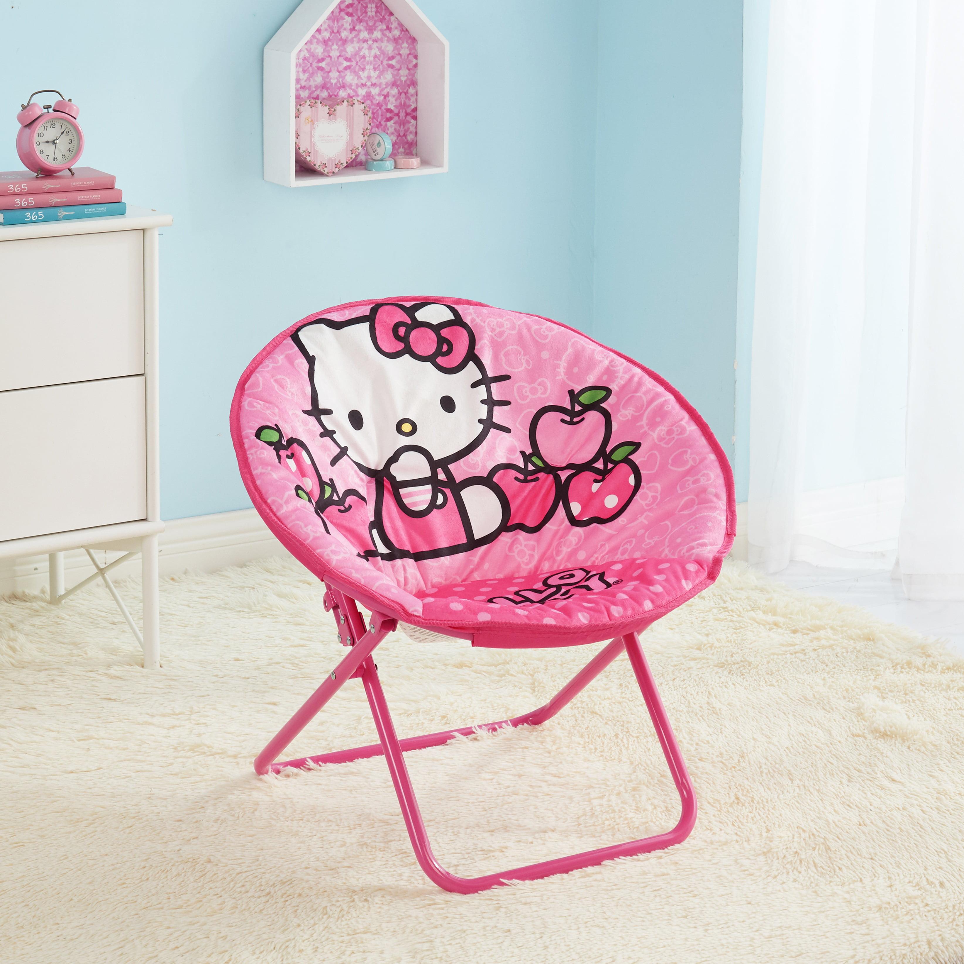 Picture of: Hello Kitty 23 Inch Kids Pink Folding Saucer Chair Walmart Com Walmart Com