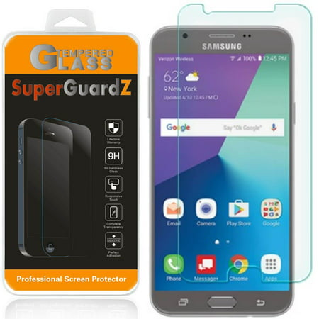 For Samsung Galaxy J7 V / J7V (Verizon) - SuperGuardZ Tempered Glass Screen  Protector, 9H, Anti-Scratch, Anti-Bubble, Anti-Fingerprint