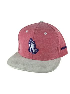 c458e1b8a854b Product Image CapRobot Men Pray Hand 3D Denim Grey Suede Visor Snapback Hat  Cap - Red Purple