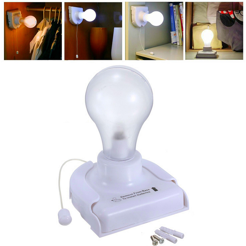 stick up bulb cordless battery operated wall light for cabinet closet bed desk stair home lamp