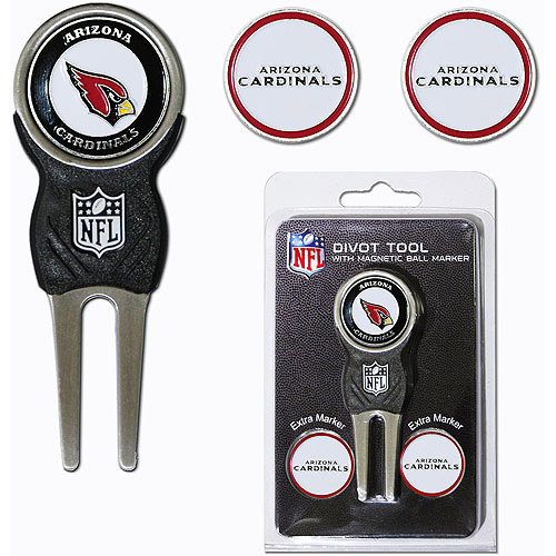 Team Golf NFL Arizona Cardinals Divot Tool Pack With 3 Golf Ball Markers