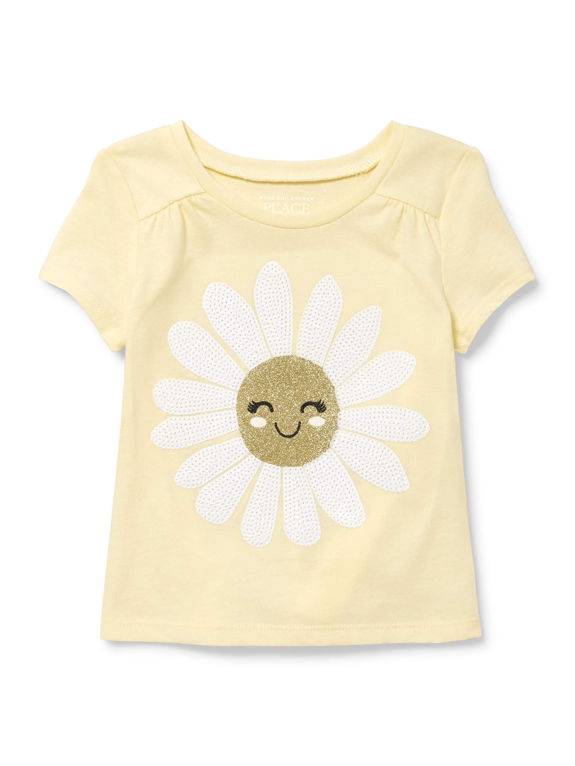 Short Sleeve Shirred Top (Baby Girls & Toddler Girls)