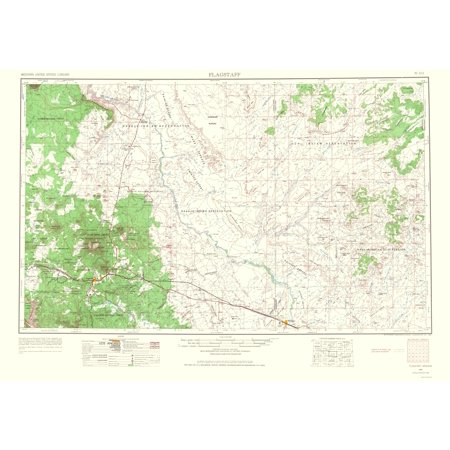 Map Of Flagstaff Arizona.Topographical Map Print Flagstaff Arizona Usgs 1966 23 X 33 16