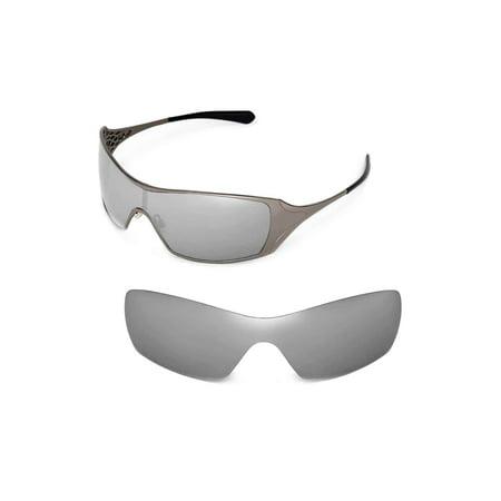 Walleva Titanium Polarized Replacement Lenses for Oakley Dart (Titanium Sunglasses Men)