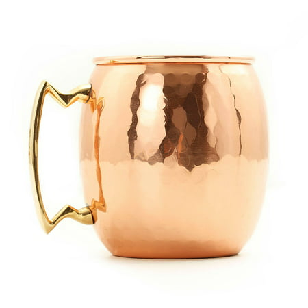 Old Dutch 24 oz. Hammered Copper Moscow Mule Mug - Set of 4