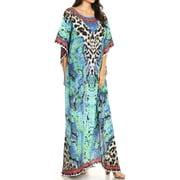 98666231a85 Sakkas - Sakkas Jabari Women s Maxi Short Sleeve Long Beach Kaftan ...