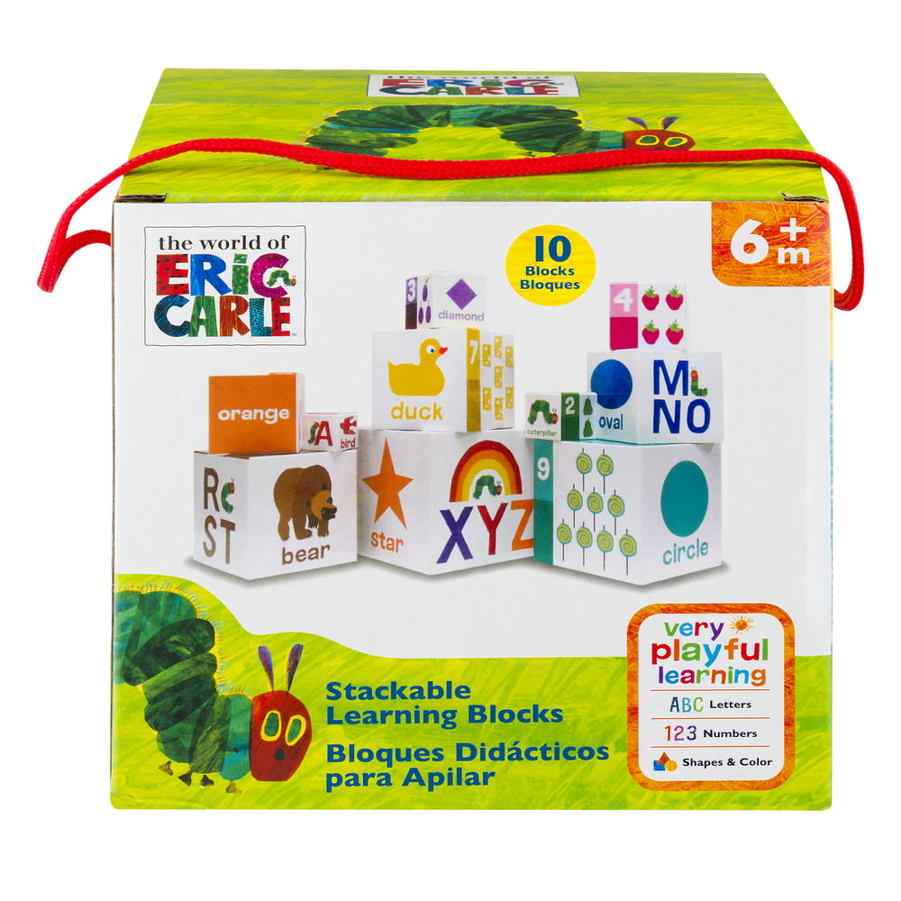 World of Eric Carle, The Very Hungry Caterpillar Stacking Nesting Blocks by Kids Preferred