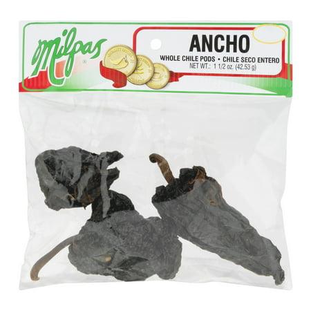 (2 Pack) Milpas Ancho Whole Chile Pods, 1.5 OZ