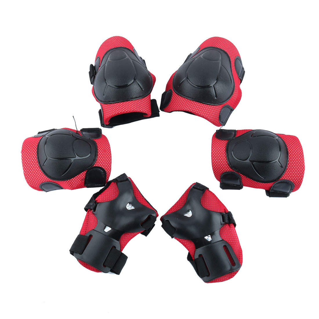 6Pcs Multi-sports Protective Gear Set Elbow Pads Wrist Guard Knee Pads For Children