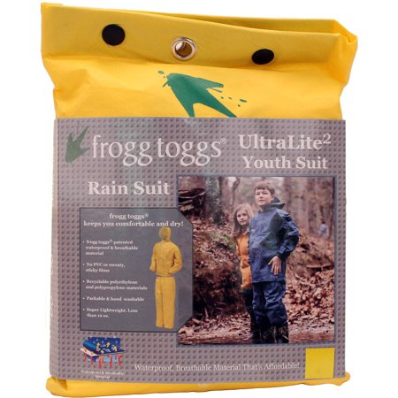 Frogg Toggs Youth Ultra-lite2 Waterproof Rain Suit - Small, Yellow