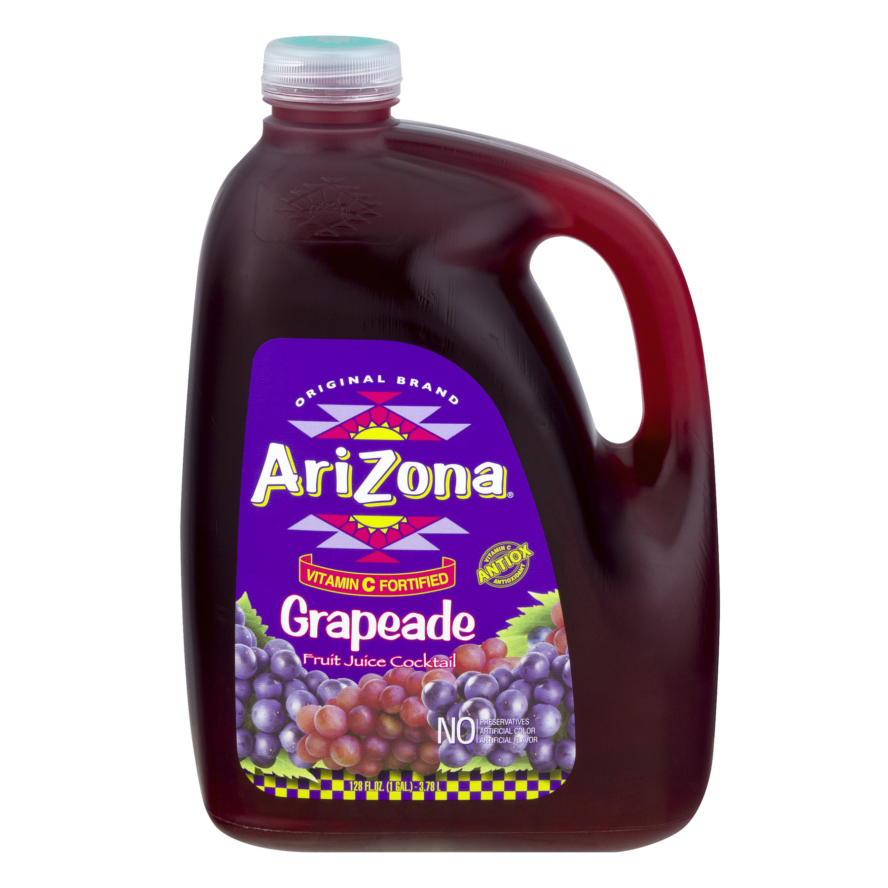 Arizona Juice Cocktail, Grapeade, 128 Fl Oz, 1 Count