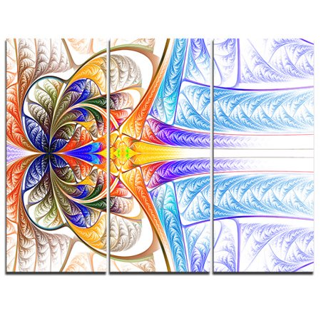 Design Art Strange Fractal Desktop Wallpaper   3 Piece Graphic Art On Wrapped Canvas Set